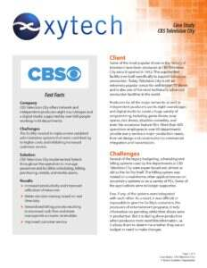 CBS Television City in Hollywood uses Xytech MediaPulse to manage its live television production operations.